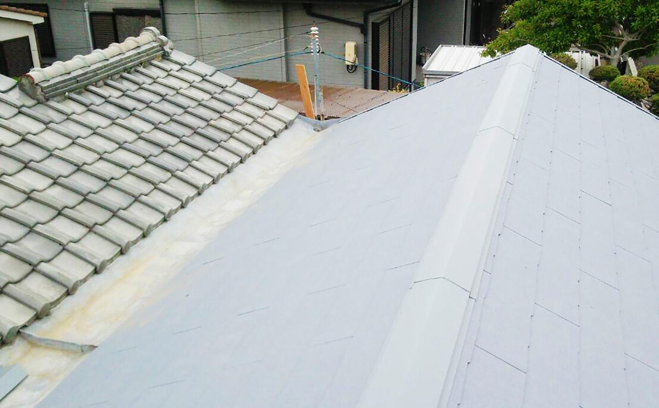 堺市北区カラーベスト葺き替え工事