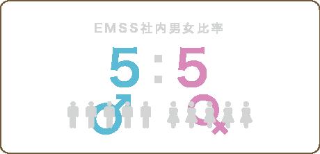 EMSS社内男女比率