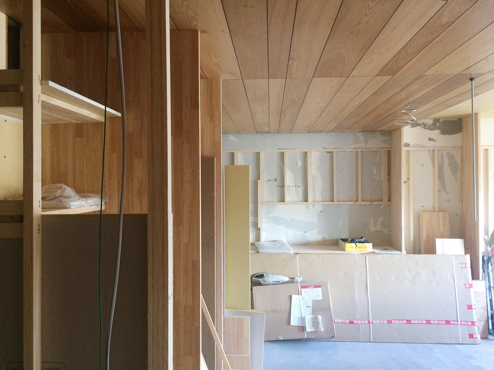 堺市 なかもずマンションのリノベーション(キッチン)