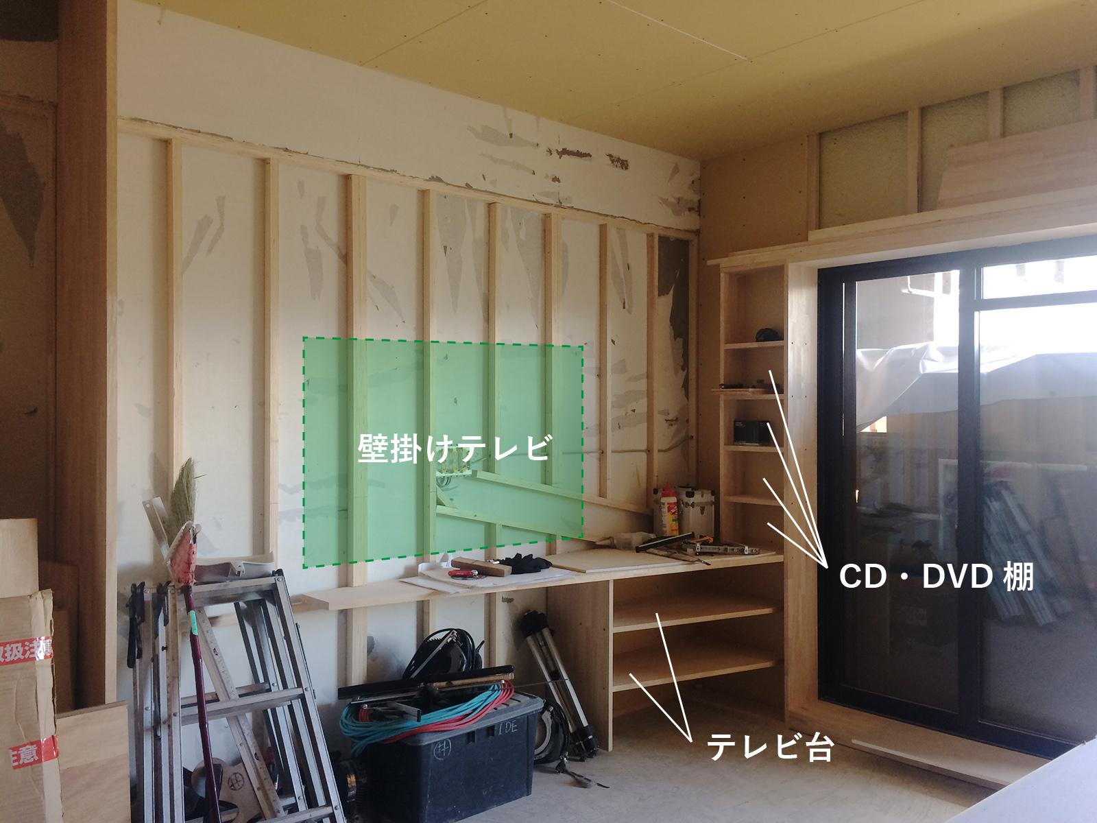 堺市 なかもずマンションのリノベーション(テレビボード)