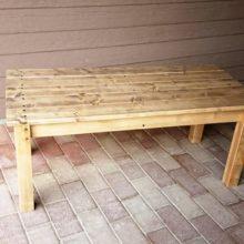 赤松集成材のベンチ